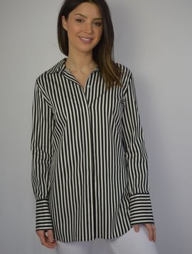 MALENE BIRGER BLK/WHITE STRIPE TOP