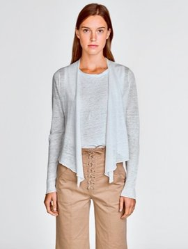 WHITE & WARREN CROPPED CARDIGAN