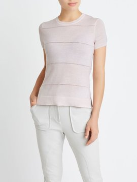 BECKEN POINTELLE SIDE SLIT TEE