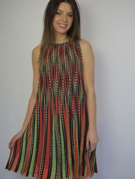 M MISSONI BUBBLE KNIT HALTER DRESS