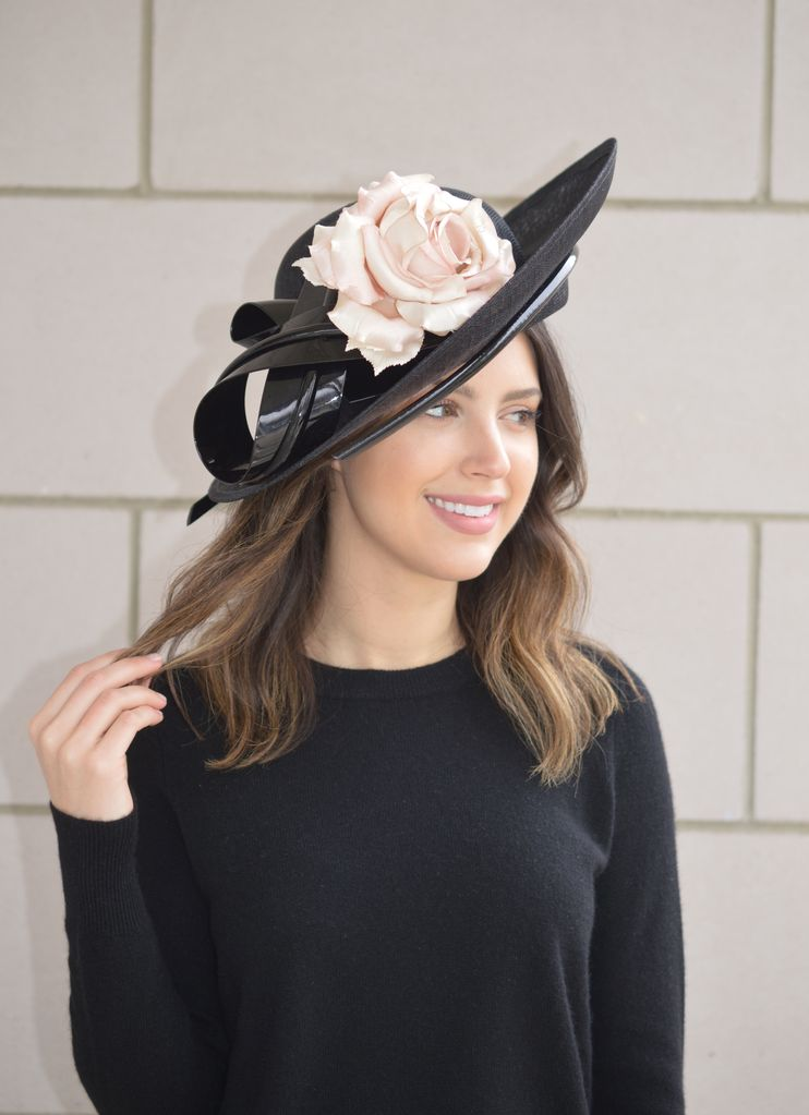 5c4d983e PHILIP TREACY LOUISE DERBY HAT - The Peacock Boutique