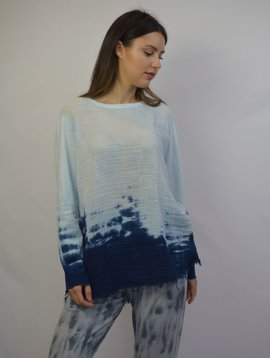 RAQUEL ALLEGRA BLUE SWEATSHIRT