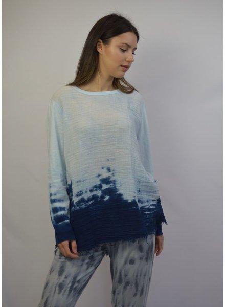 RAQUEL ALLEGRA BLUE SWEATSHIRT