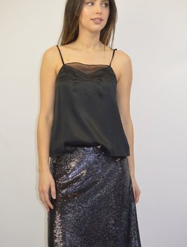 IRO BLACK SEQUIN SKIRT