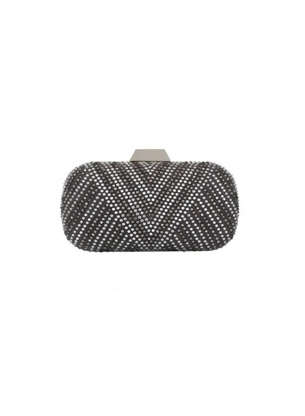 "LILI RADU SHELL CLUTCH ""SWAROVSKI V"" PLUS"