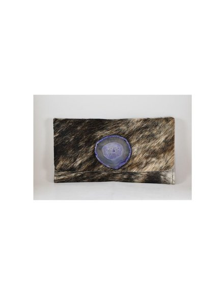 KRAVA BLACK HAIRCALF WITH PURPLE STONE