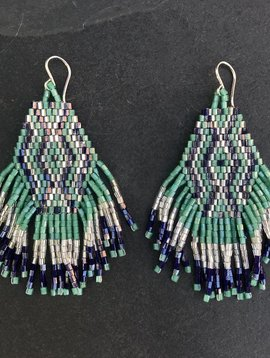 CINDY BORDERS WILD CHILD EARRINGS IN TURQUOISE