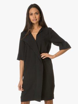 MALENE BIRGER BLACK SHIFT DRESS