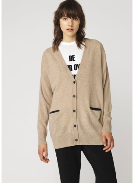 BY MALENE BIRGER BEIGE CARDIGAN