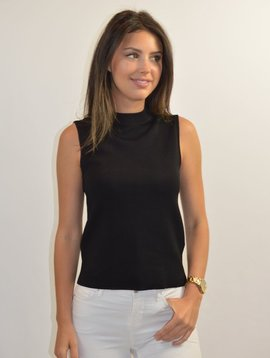 M MISSONI BLACK SLEEVELESS TOP