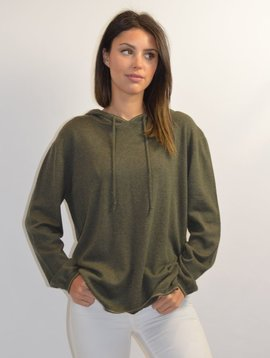 PAUL & JOE KHAKI HOODED PULLOVER