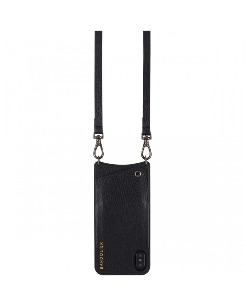 BANDOLIER EMMA PEWTER & BLACK IPHONE 8