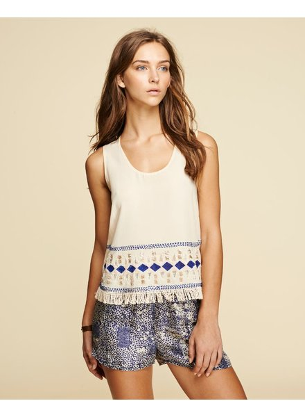 PEPIN EMBROIDERY SCOOP TANK