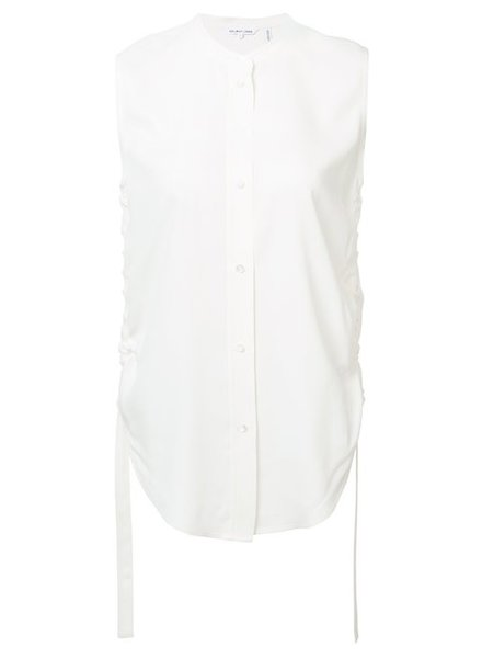 HELMUT LANG SIDE RUCHE BUTTON UP TANK