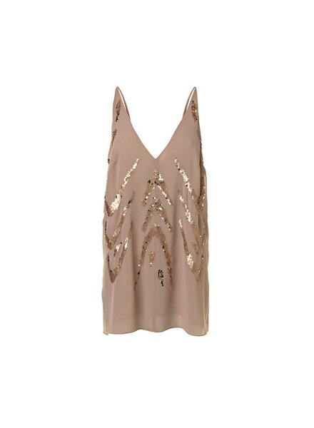 BY MALENE BIRGER BLUSH SEQUIN TANK