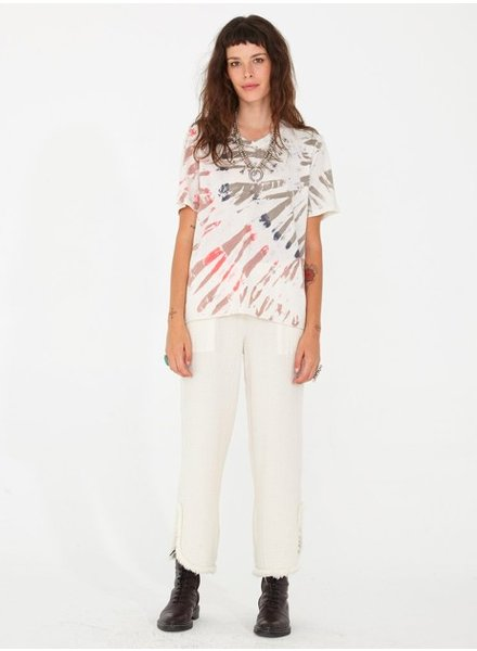 RAQUEL ALLEGRA BOYFRIEND TEE IN WHITE MOUNTAIN
