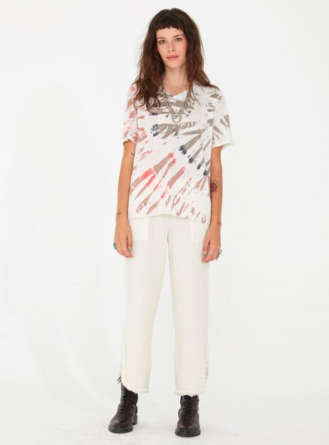 f9e1c95bf0f3c RAQUEL ALLEGRA BOYFRIEND TEE IN WHITE MOUNTAIN - The Peacock Boutique
