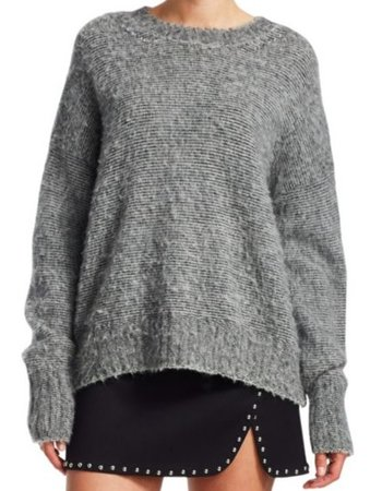 HELMUT LANG BRUSHED WOOL CREW NECK