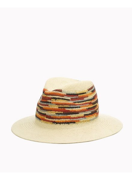 RAG & BONE COLORFUL MULTI PANAMA HAT