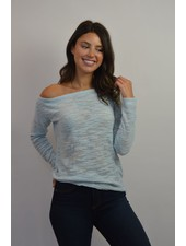 WHITE + WARREN OFF THE SHOULDER PULLOVER