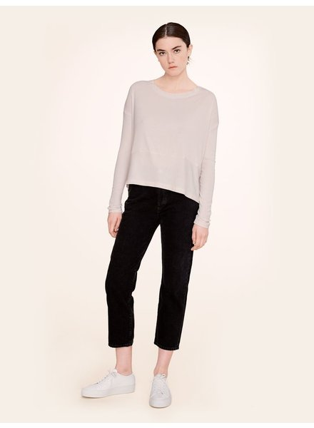 KINLY RIB JERSEY DROP SHOULDER TEE