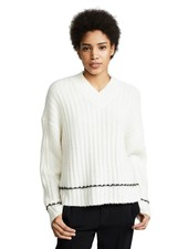 HELMUT LANG BRUSHED LONG SLEEVE V-NECK