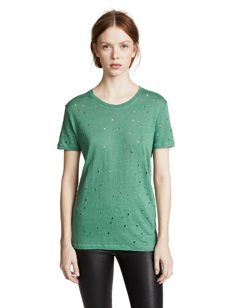IRO CLAY TEE IN EMRALD