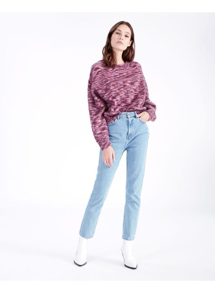 IRO PINK BLACK SWEATER
