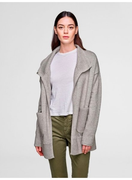 WHITE + WARREN COZY POCKET COATIGAN HEATHER