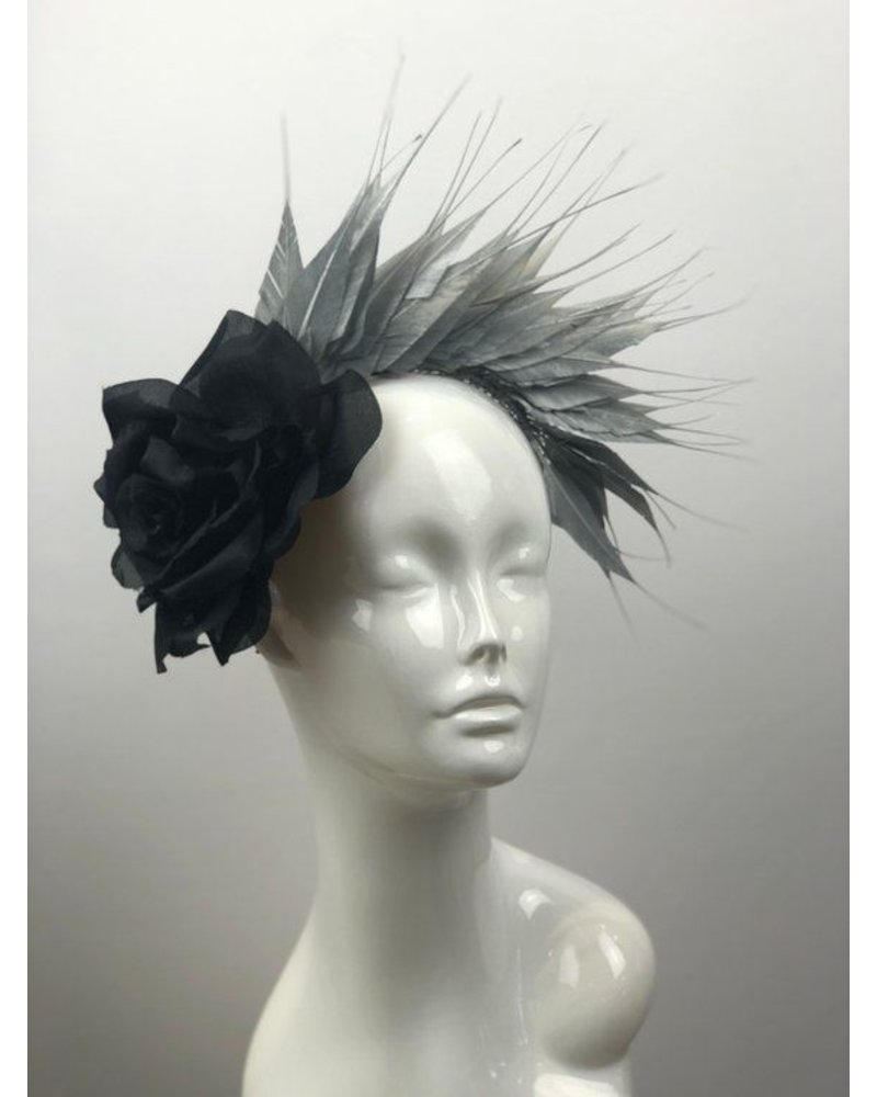 PATRICIA MELICAN MILLINERY SARAH FEATHER CROWN