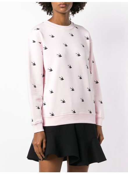 MCQ CLASSIC SWEATSHIRT DECO SWALLOW IN PINK