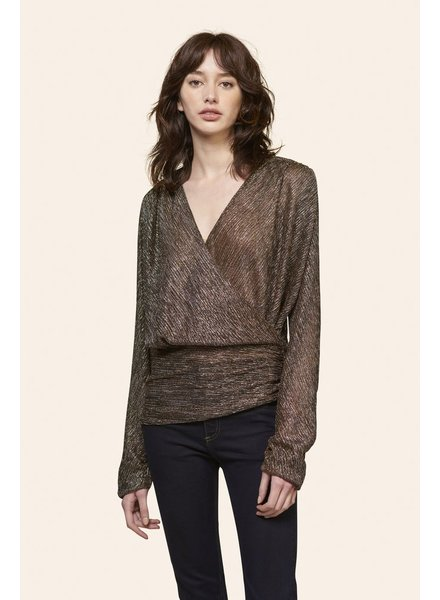 KINLY SHINE WRAP TOP