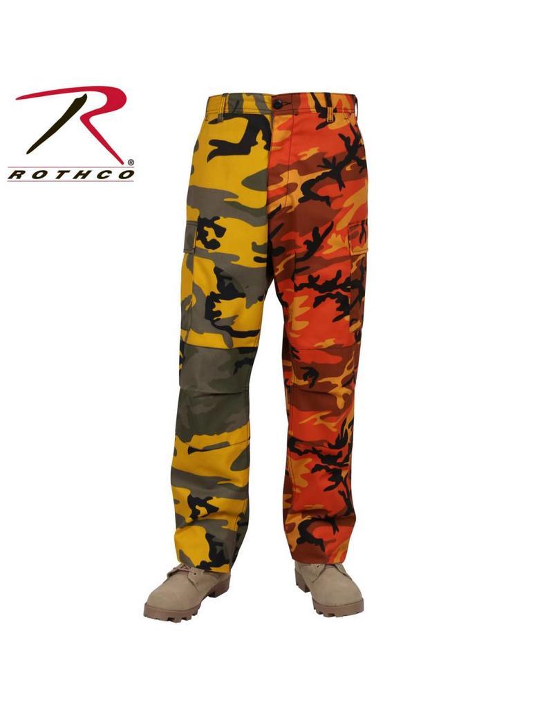ROTHCO Pantalon Rothco 2 Couleurs Camo Orange /Jaune