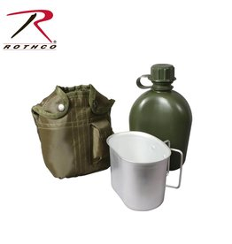 ROTHCO Rothco 3 Piece Canteen Kit With Cover & Aluminum Cup