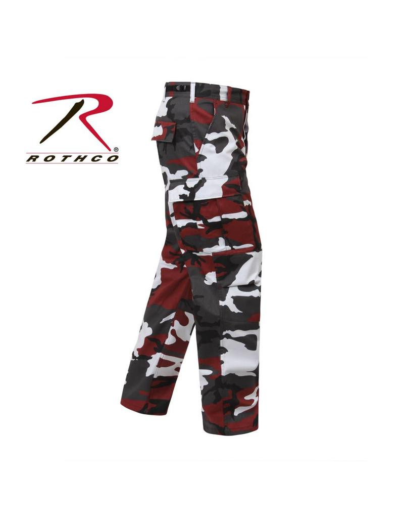 ROTHCO Pantalon Style Militaire Camo Rouge