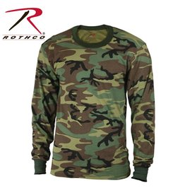 ROTHCO Rothco Long Sleeve Camo T-Shirt Woodland