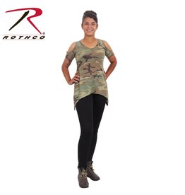 ROTHCO Rothco Womens Camo Cold Shoulder Top