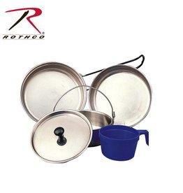 ROTHCO Rothco 5 Piece Stainless Steel Mess Kit