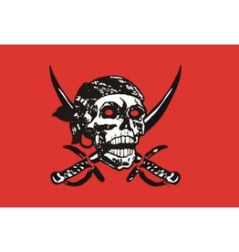 DRAPEAU IMPORT Drapeau Pirate Red