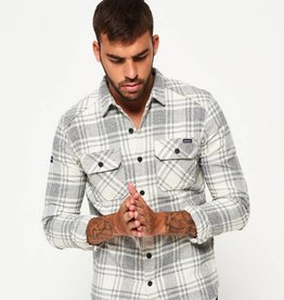 Superdry Milled Flannel Long Sleeve Shirt | Lavenham Grit Check