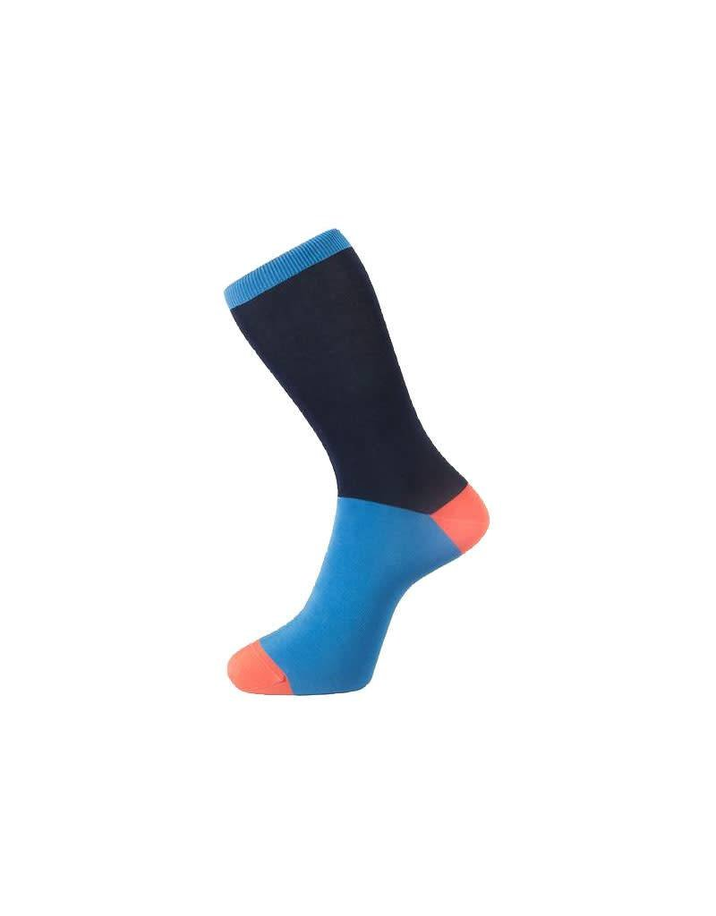 Fortis Green Block Colour Sock In Navy Blue