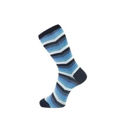Fortis Green Chevron Stripe Pattern Sock In Blue