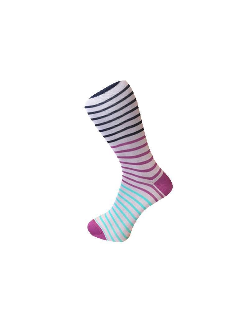 Visconti Multistripe Socks - Purple