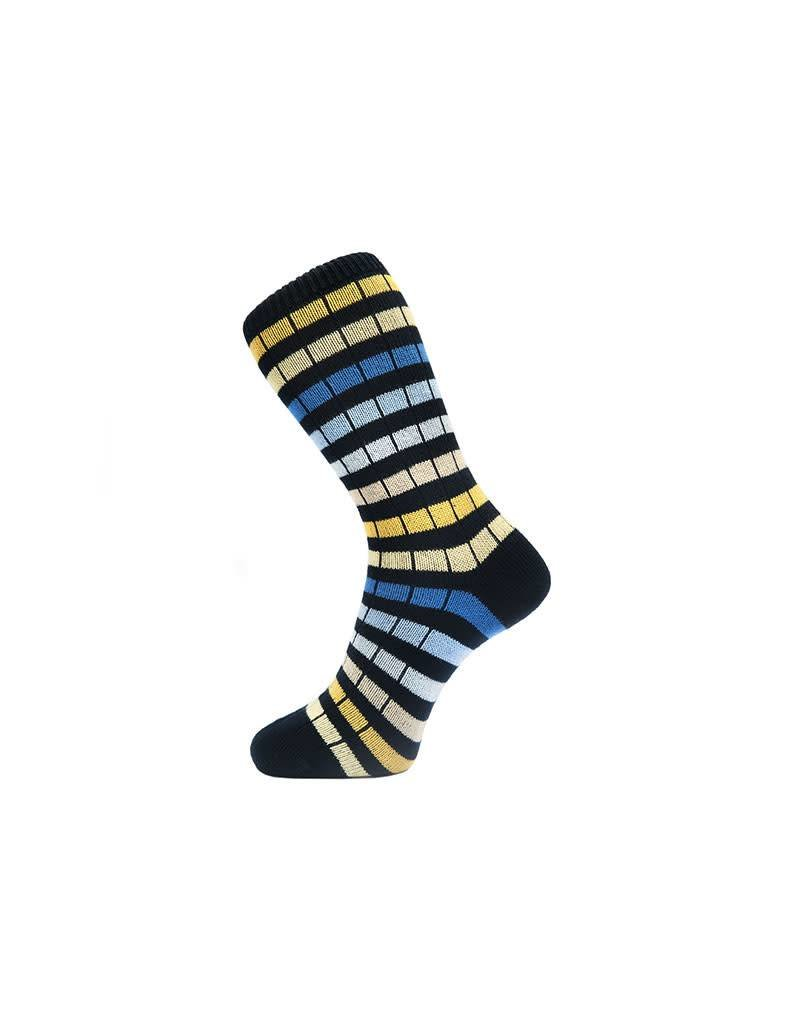 Fortis Green Chunky Striped In Navy