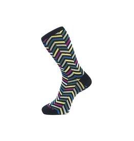 Fortis Green Zig Zag Pattern Sock in Black