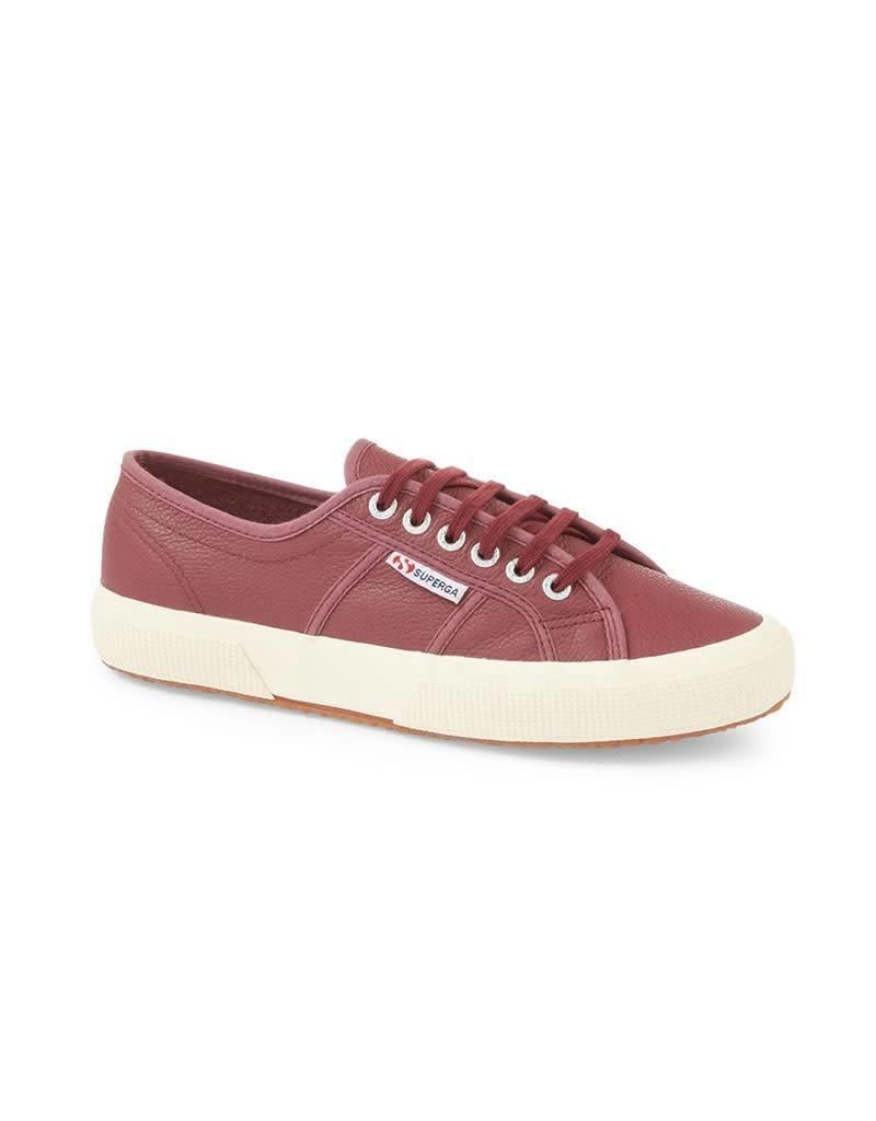 Superga 2750 Efglu Leather Sports Shoe   Black