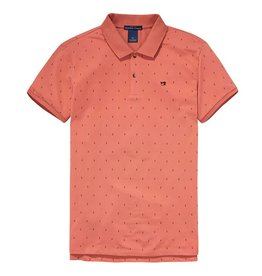 Scotch & Soda Garment Dyed Polo In Cotton Pique | Muted Salmon 139763-0218