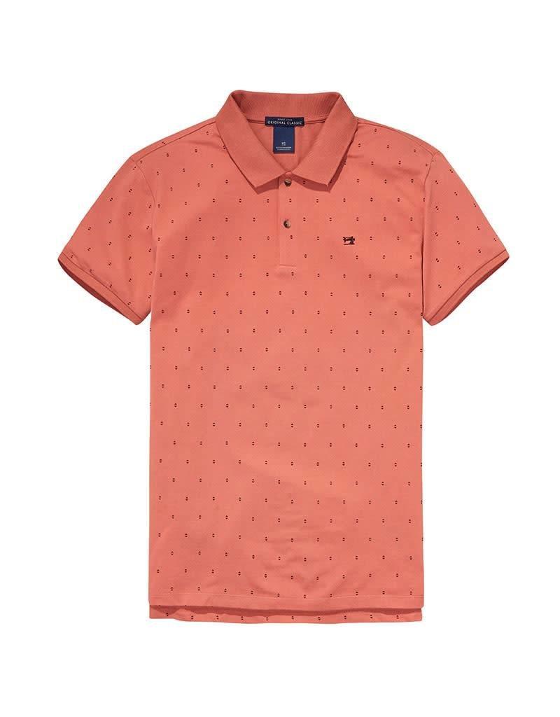 Scotch & Soda Garment Died Polo In Cotton Pique | 139763