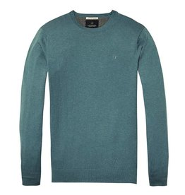 Scotch & Soda Cotton Crewneck Pull Over | Light-blue 139782-1708