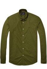 Scotch & Soda Poplin Shirt | Lizard Green 139561-1150